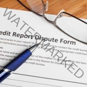 Credit report dispute score